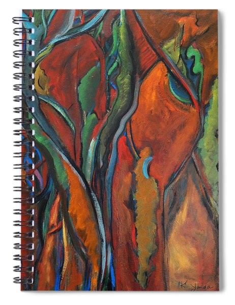 Orange Abstract Spiral Notebook