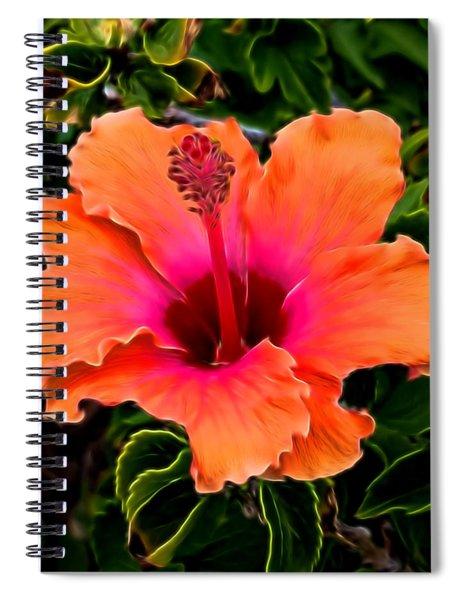 Orange And Pink Hibiscus 2 Spiral Notebook