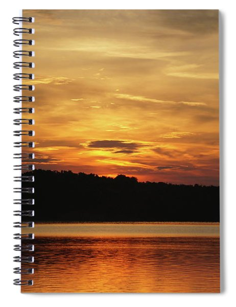 Orange And Yellow Sky Spiral Notebook