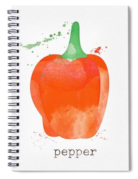 Orange Bell Pepper  Spiral Notebook