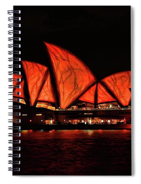 Orange Blast Spiral Notebook