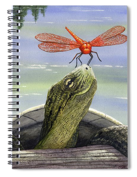 Orange Dragonfly Spiral Notebook