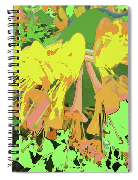 Orange Flowers By M.l.d. Moerings 2015 Spiral Notebook