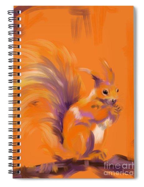 Orange Forest Squirrel Spiral Notebook