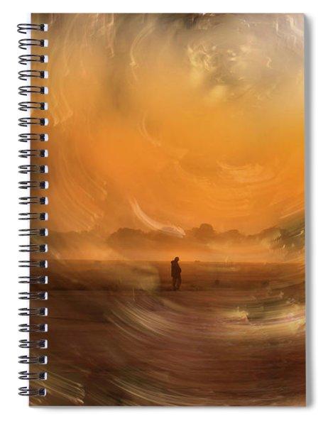 Orange Gust Spiral Notebook