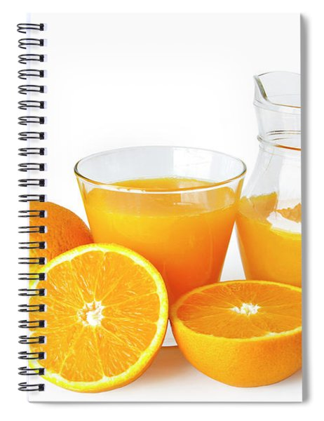 Orange Juice Spiral Notebook