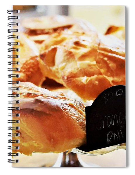Orange Rolls Spiral Notebook