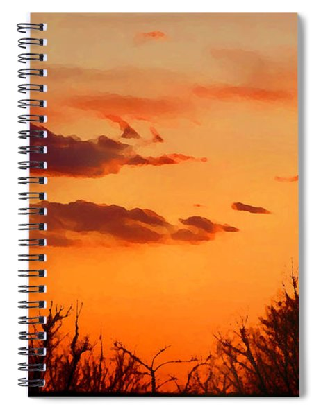 Orange Sky At Night Spiral Notebook