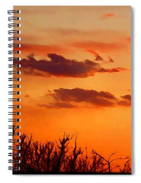 Orange Sky At Night Spiral Notebook