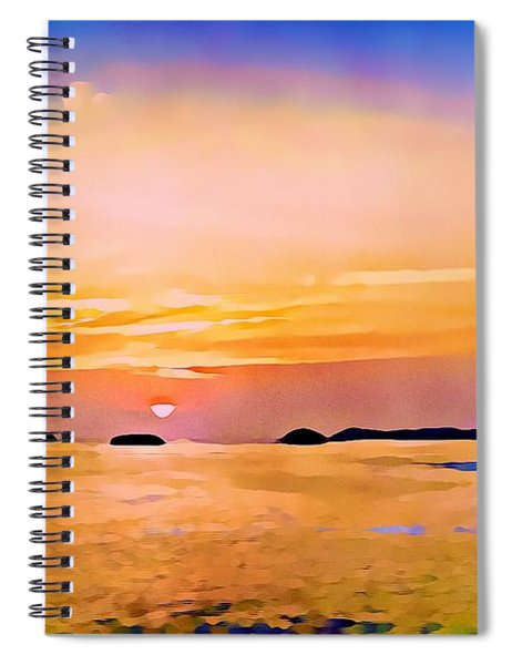 Orange Sky In Ixtapa, Mexico Spiral Notebook