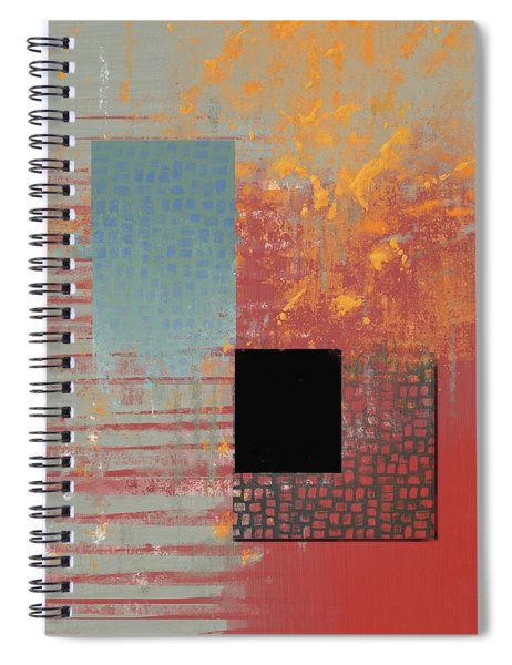 Orange Splash Spiral Notebook