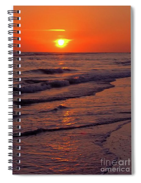 Orange Sunset Spiral Notebook