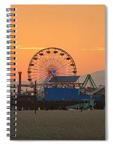 Orange Sunset - Panorama Spiral Notebook