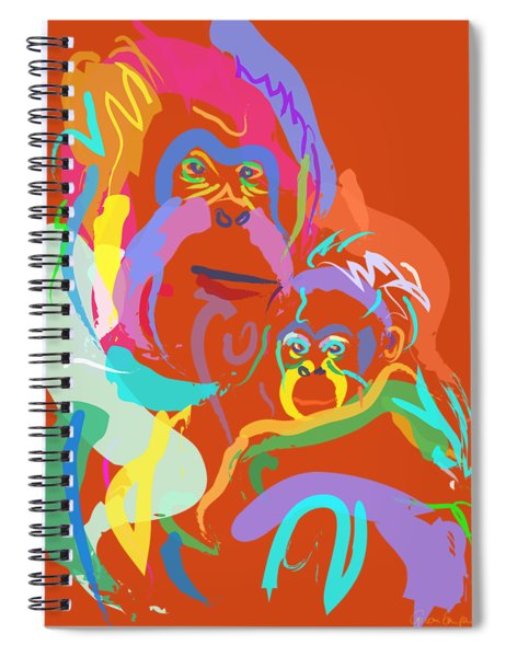Orangutan Mom And Baby Spiral Notebook