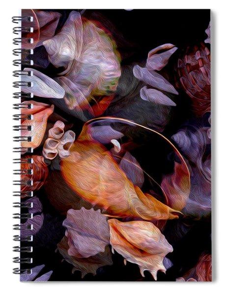 Orbiting Seashells Spiral Notebook