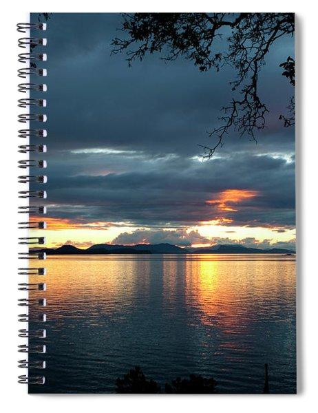 Orcas Island Sunset Spiral Notebook