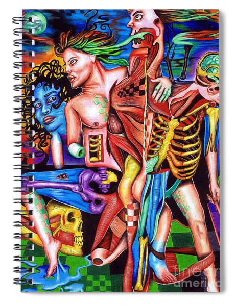 Orchestration Of Metaphysical Motion Spiral Notebook