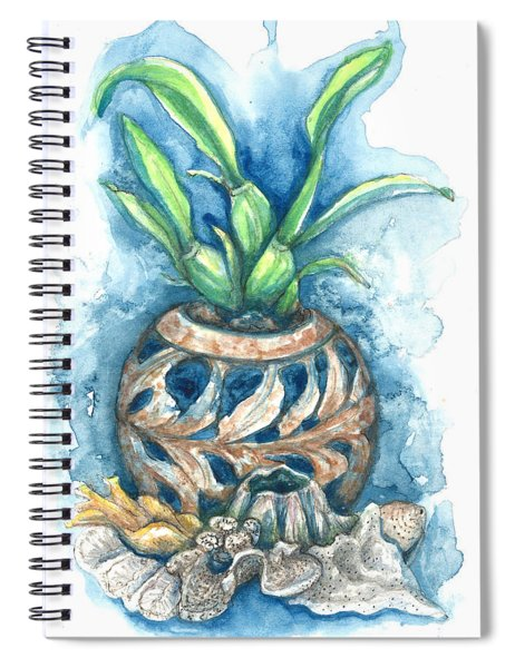 Orchid And Barnacle Spiral Notebook