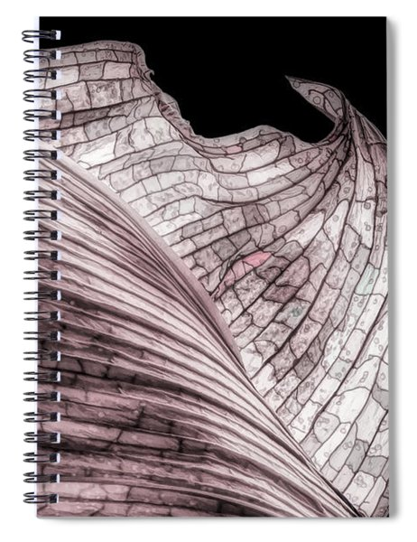 Orchid Leaf Macro Spiral Notebook