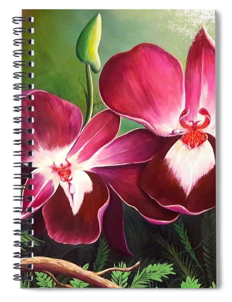 Orchids In The Night Spiral Notebook