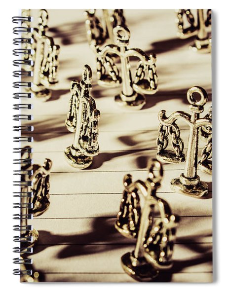 Order Of Law And Justice Spiral Notebook