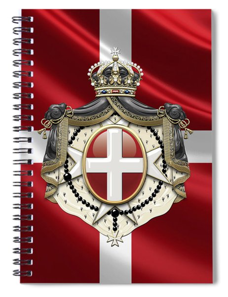 Order Of Malta Coat Of Arms Over Flag Spiral Notebook