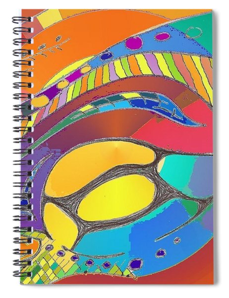Organic Life Scan Or Cellular Light - Original, Square Spiral Notebook