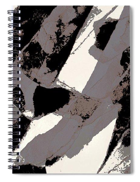 Organic 1 Abstract Spiral Notebook by Menega Sabidussi
