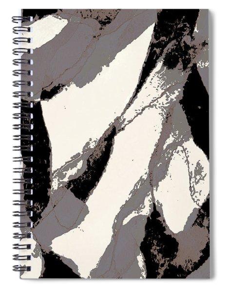 Organic 3 Abstract Spiral Notebook by Menega Sabidussi