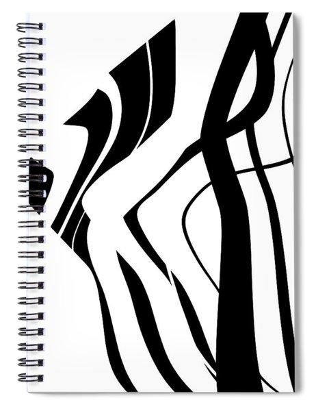 Organic No 4 Black And White Spiral Notebook by Menega Sabidussi