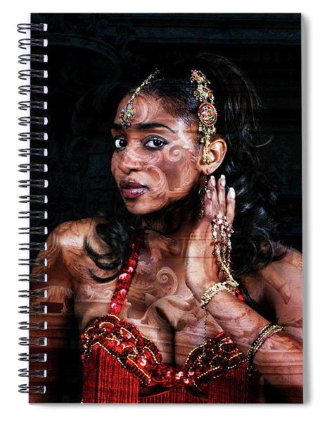 Orient Meets Baroque Spiral Notebook
