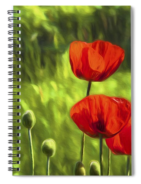 Oriental Poppies Spiral Notebook