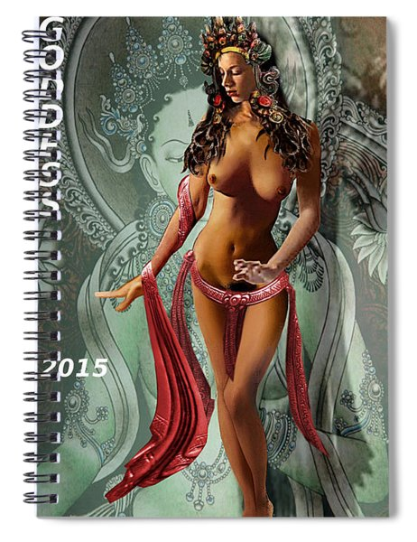 Original Female Nude Jean Goddess As Tara Dancing Poster Spiral Notebook