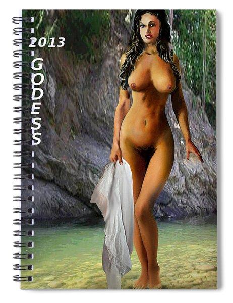 Original Female Nude Jean Goddess Venus Bathing Poster Spiral Notebook