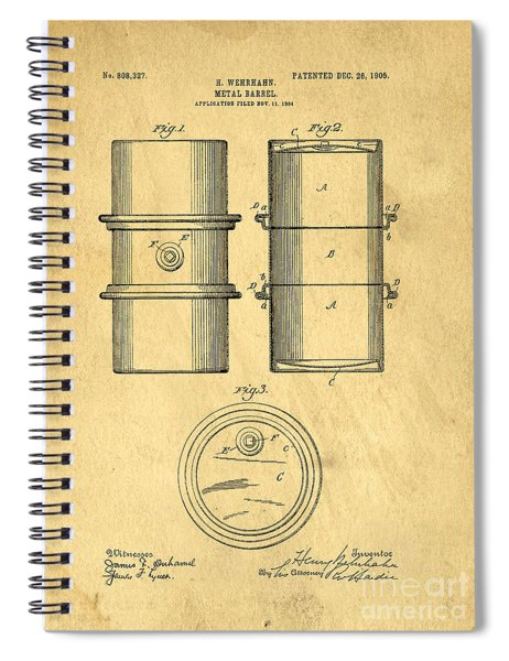 Original Patent For The First Metal Oil Drum Spiral Notebook