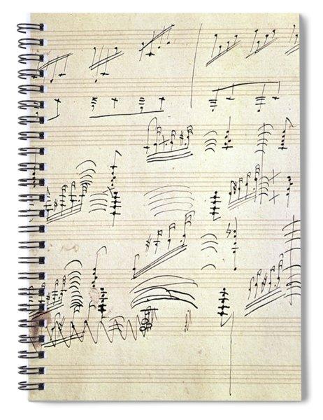 Original Score Of Beethoven's Moonlight Sonata Spiral Notebook