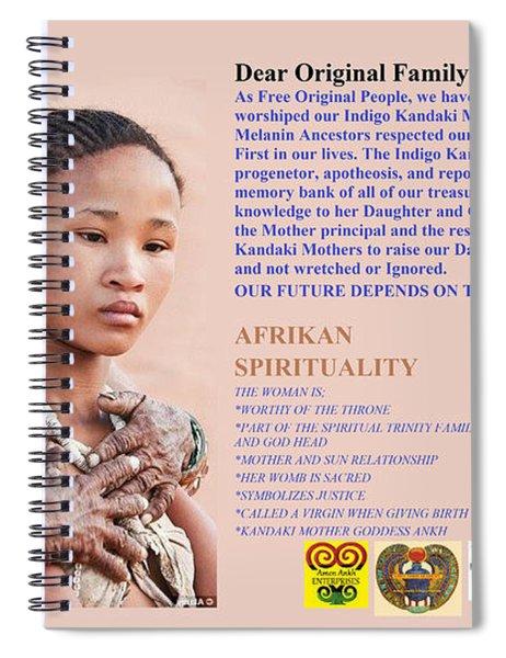 Original Woman Spiral Notebook