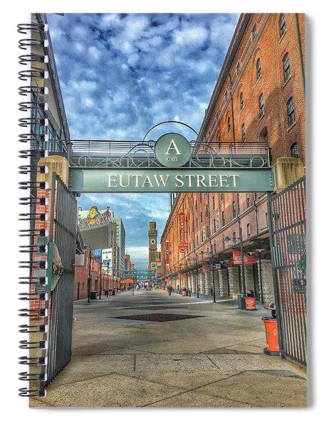 Oriole Park At Camden Yards - Eutaw Street Gate Spiral Notebook