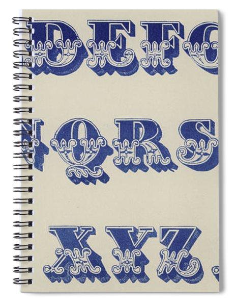 Ornamental Fleur De Lis Font Spiral Notebook