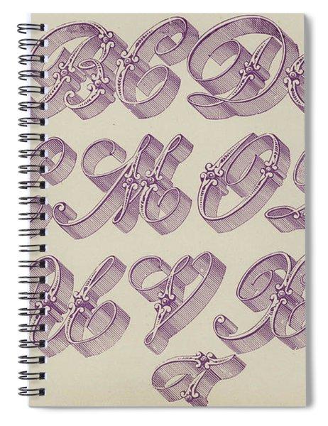 Ornamental Riband Spiral Notebook