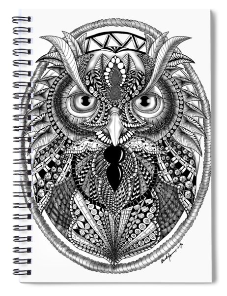 Ornate Owl Spiral Notebook