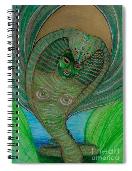 Wadjet Osain Spiral Notebook by Gabrielle Wilson-Sealy