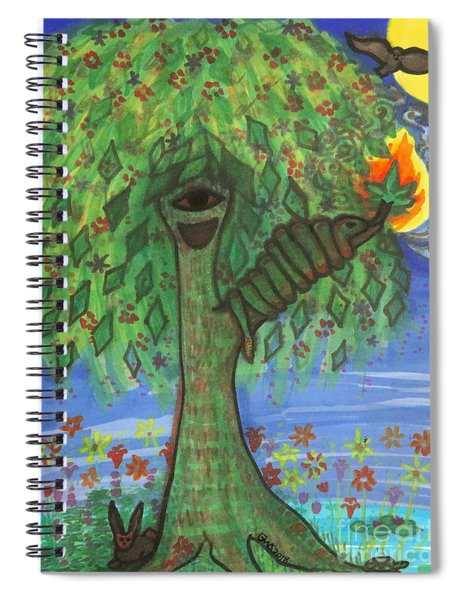 Osain Tree Spiral Notebook