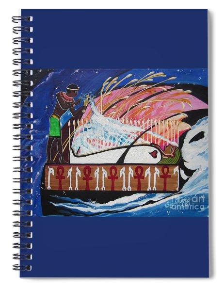 Osiris - Nepra By Blaa Kattproduksjoner  Spiral Notebook