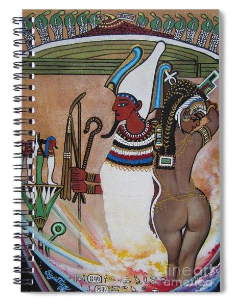 Blaa Kattproduksjoner         Osiris With Goddess Isis And 4 Grandkids Spiral Notebook