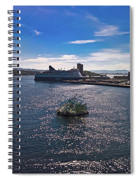 Oslo Fjord From The Roof Of The National Opera House Spiral Notebook