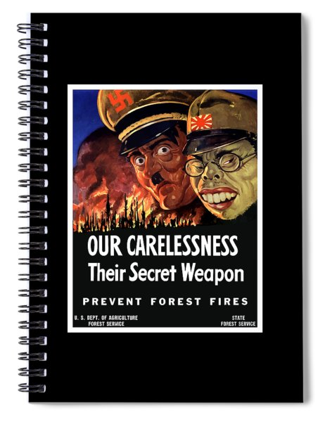 Our Carelessness - Their Secret Weapon Spiral Notebook