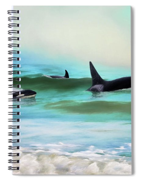 Our Family - Orca Whale Art Spiral Notebook