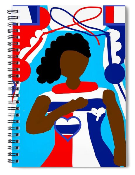 Our Flag Of Freedom 3 Spiral Notebook