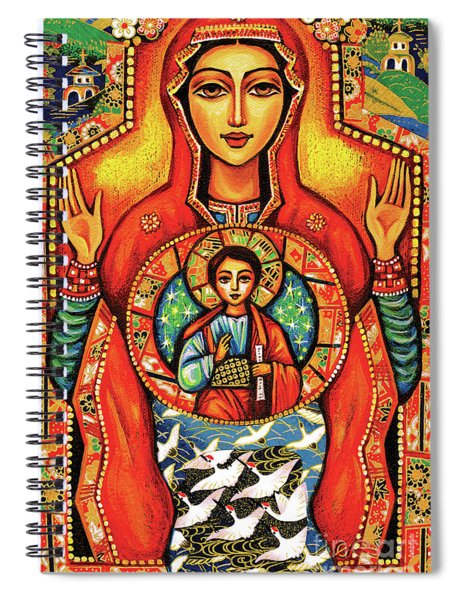 Our Lady Of The Sign Spiral Notebook